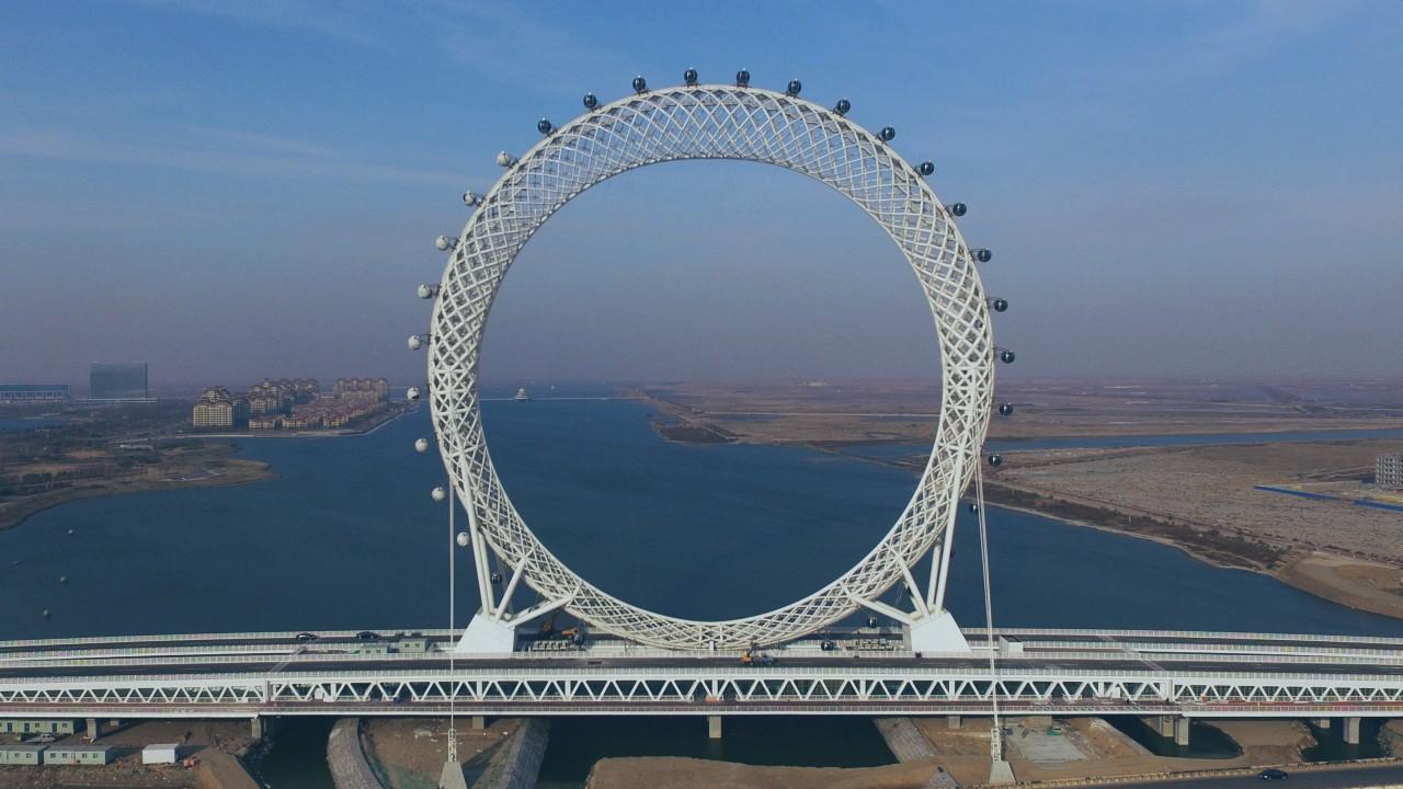 A big, shaftless wheel
