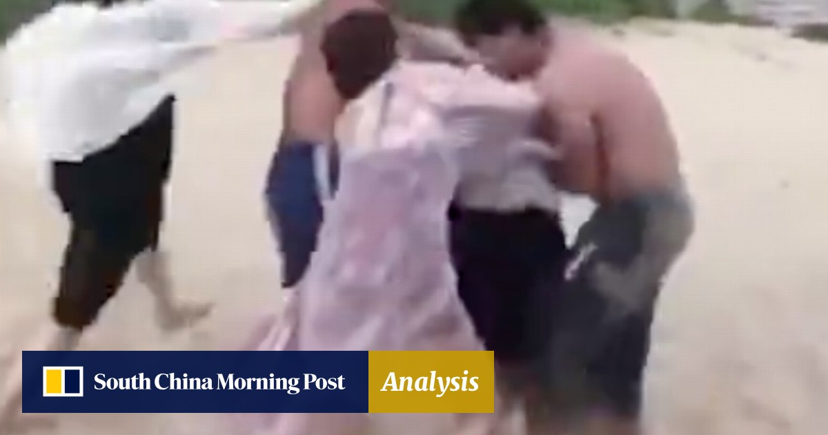 aedca99e389d Two men arrested over beach BBQ brawl on Hainan after Chinese tourist  injured   South China Morning Post