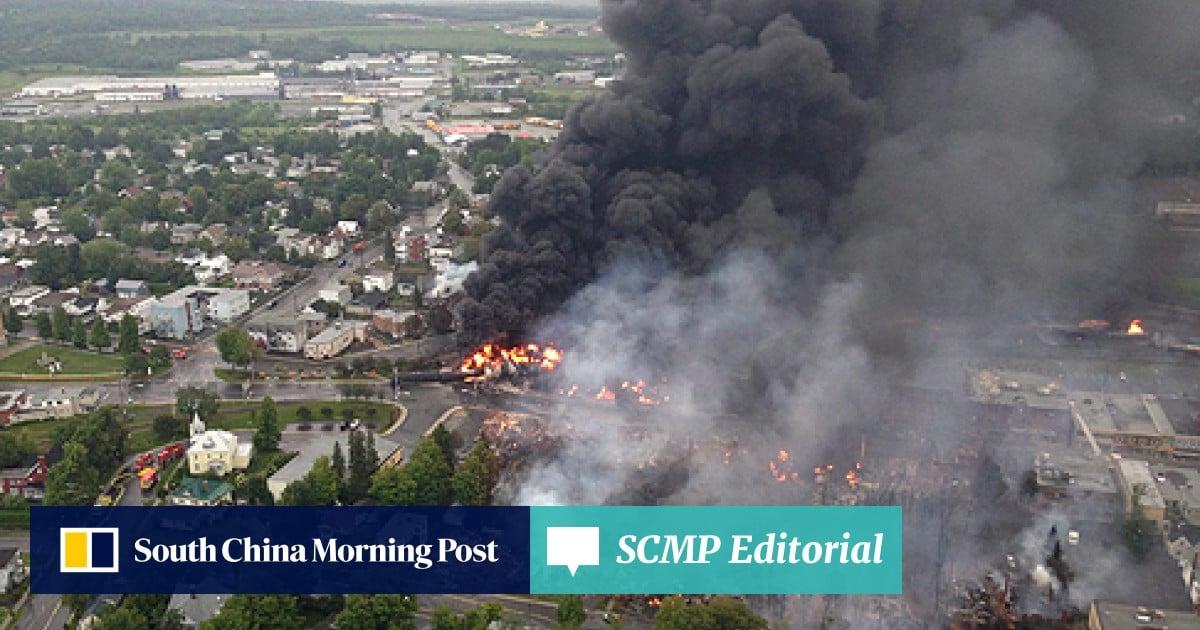 Fuel train derails and explodes in Lac-Megantic, Canada