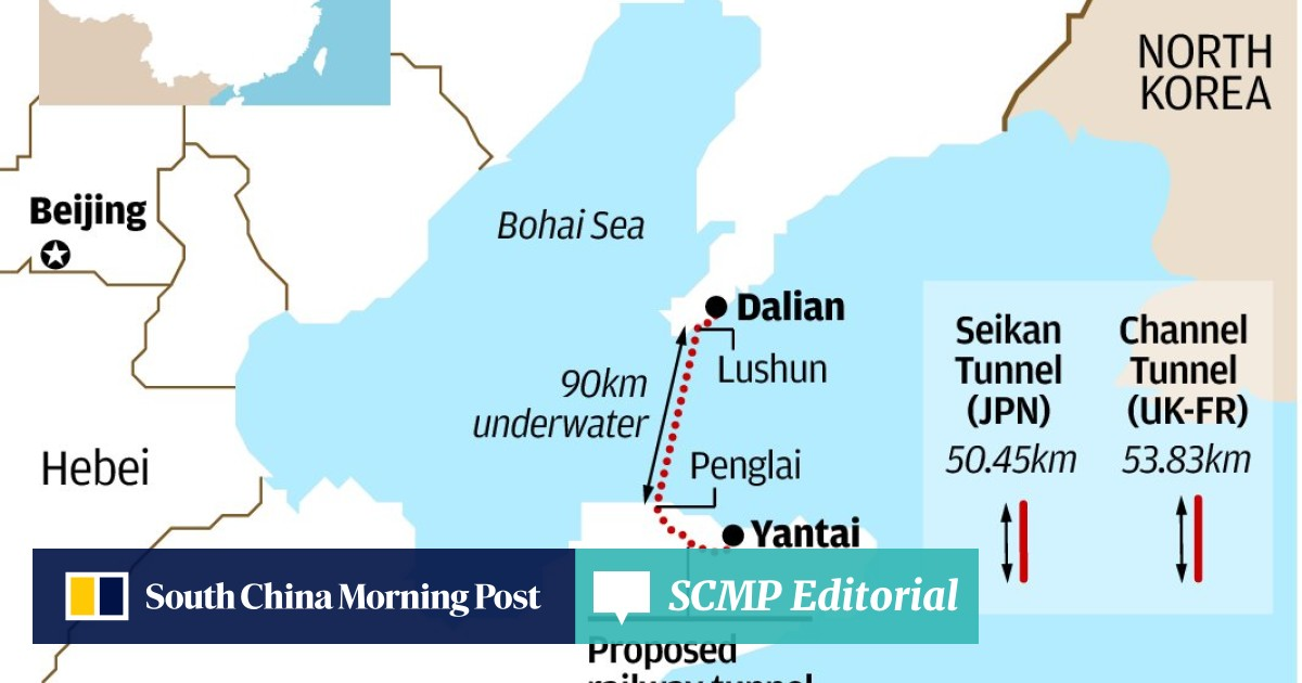 Plan to build world's longest undersea tunnel from Dalian to
