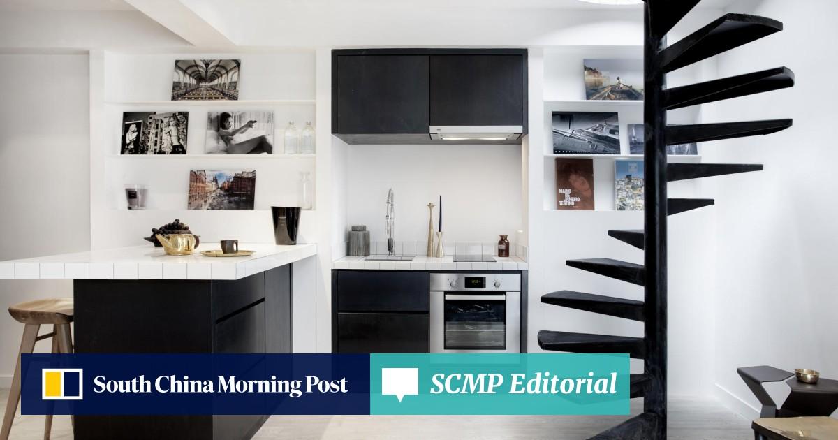 A 395 sq ft Sheung Wan flat gets a modern monochrome facelift