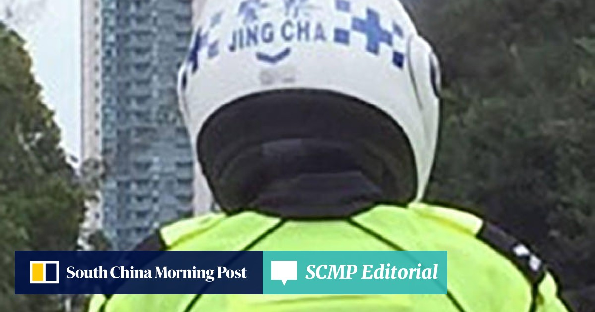 Police? Jing Cha? Altered helmet may spell 'trouble' for