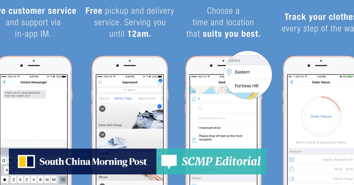 Impressed - door-to-door dry-cleaning for busy Hongkongers | South