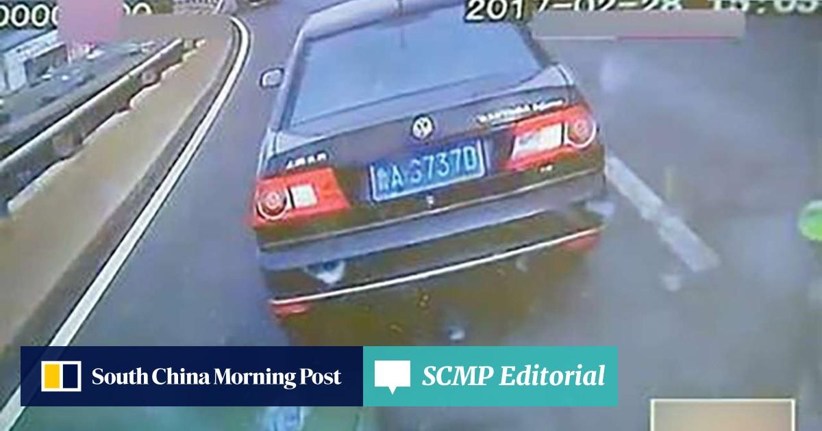 Chinese motorist fined for blocking path of ambulance