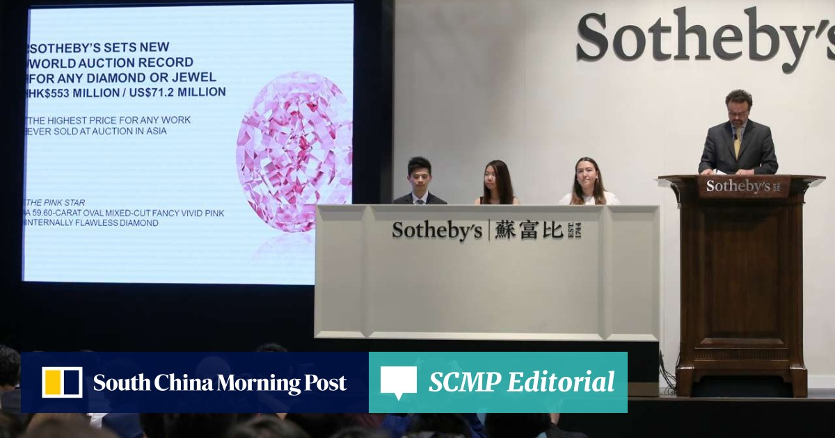 Hong Kong jeweller pays record HK$553m for 'Pink Star