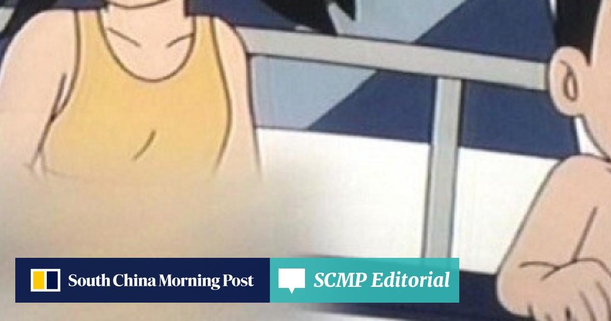 Indonesian TV censorship: cartoons cut, athletes blurred as