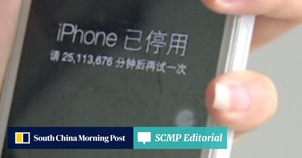 Chinese toddler 'disables iPhone for 47 years'   South China Morning