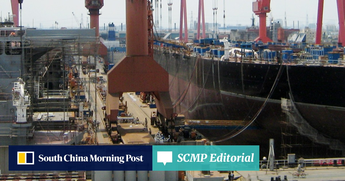 China is said to be merging two shipbuilders into a