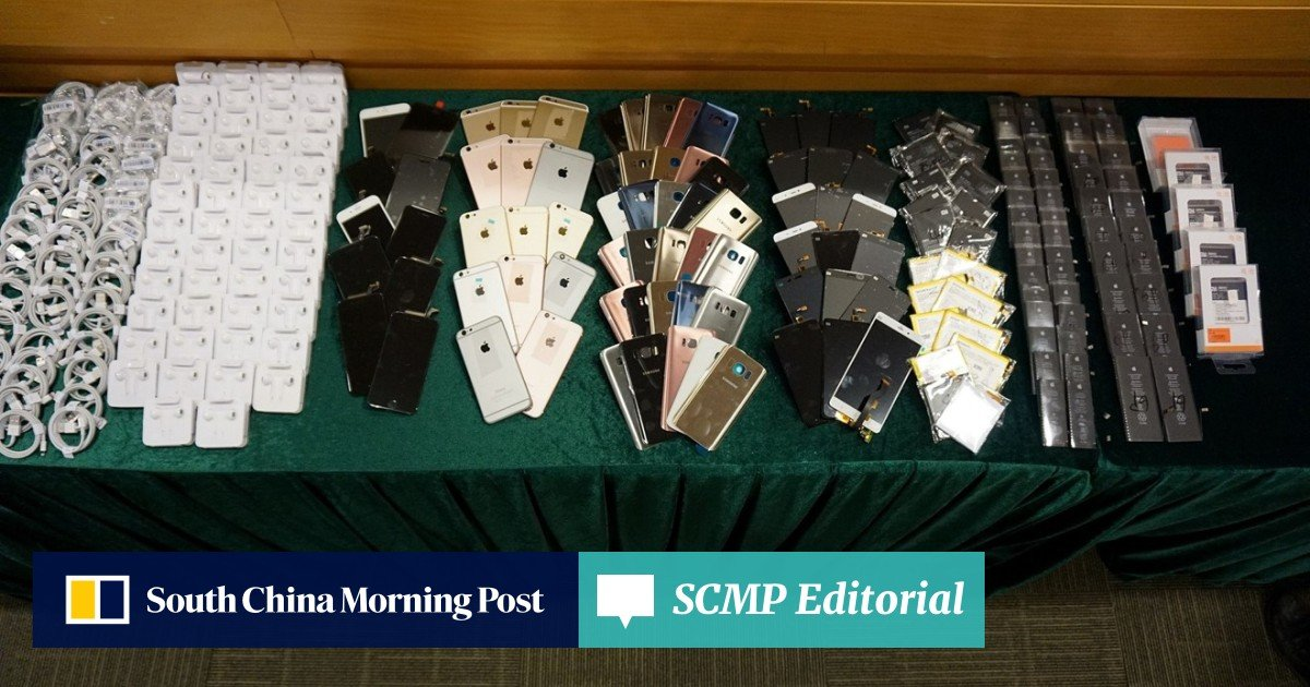 Customs officers raid shops selling counterfeit accessories and used