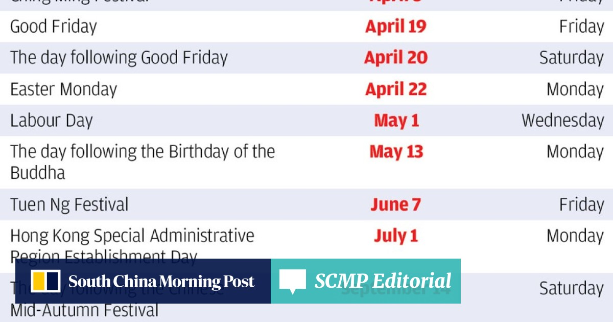 Hong Kong 2019 public holidays leave opportunities for savvy