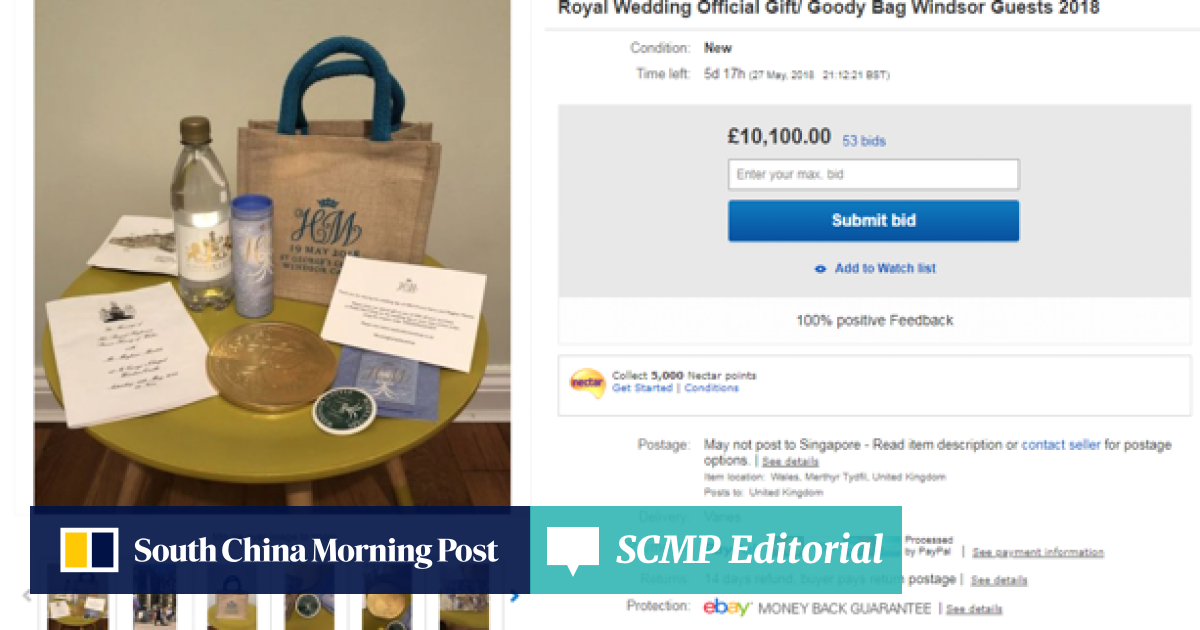 People are selling their royal wedding gift bags on eBay | South