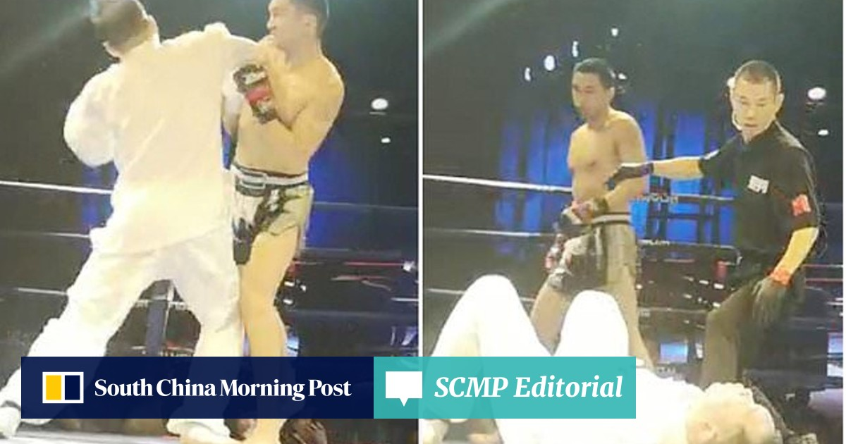 Chinese kick-boxer knocks out tai chi master with one punch in