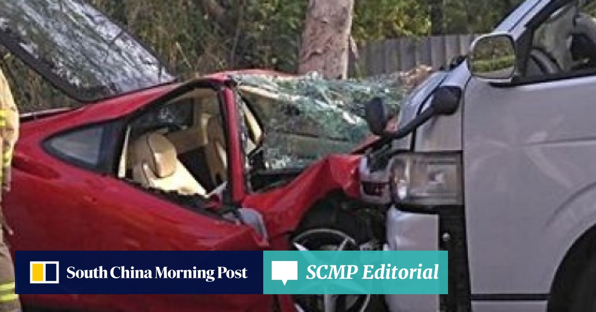 Four injured and HK$1 7 million Ferrari destroyed in two-vehicle