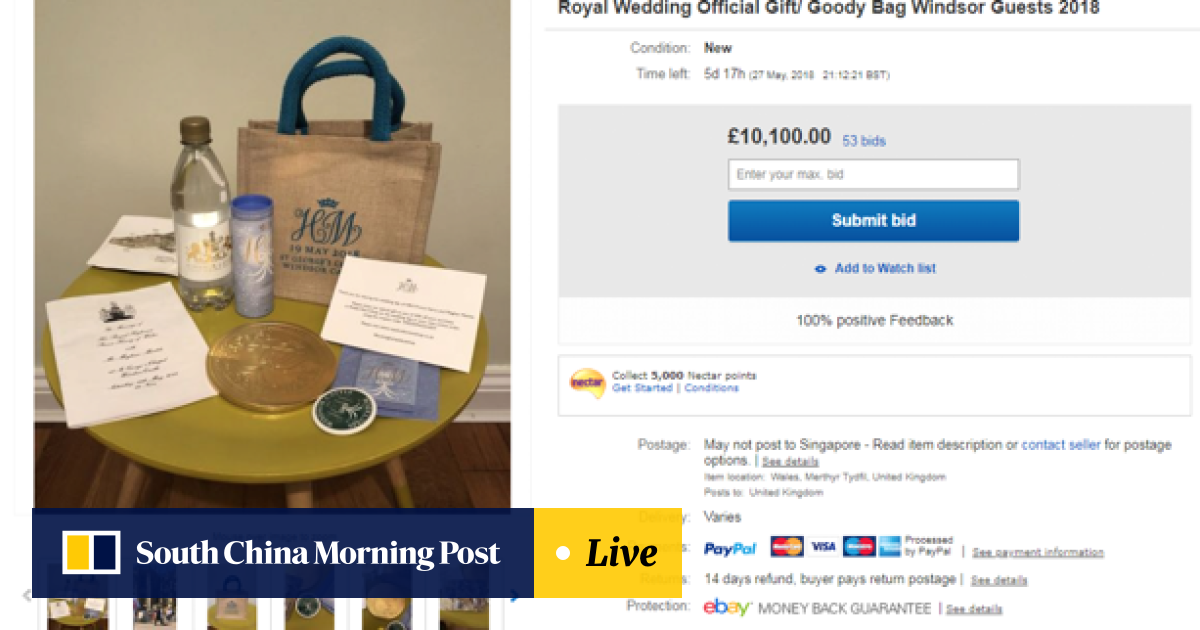 People are selling their royal wedding gift bags on eBay