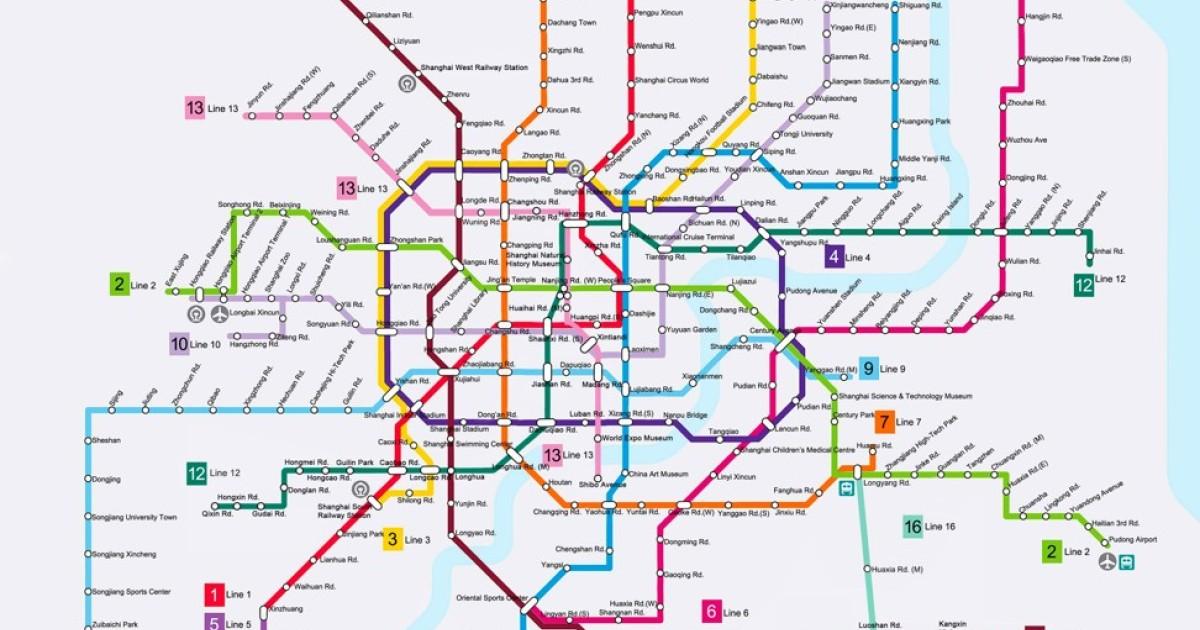 Shanghai Subway Map Vs Acutal.Shanghai Metro Keeping World S Longest Mass Transit Rail System On