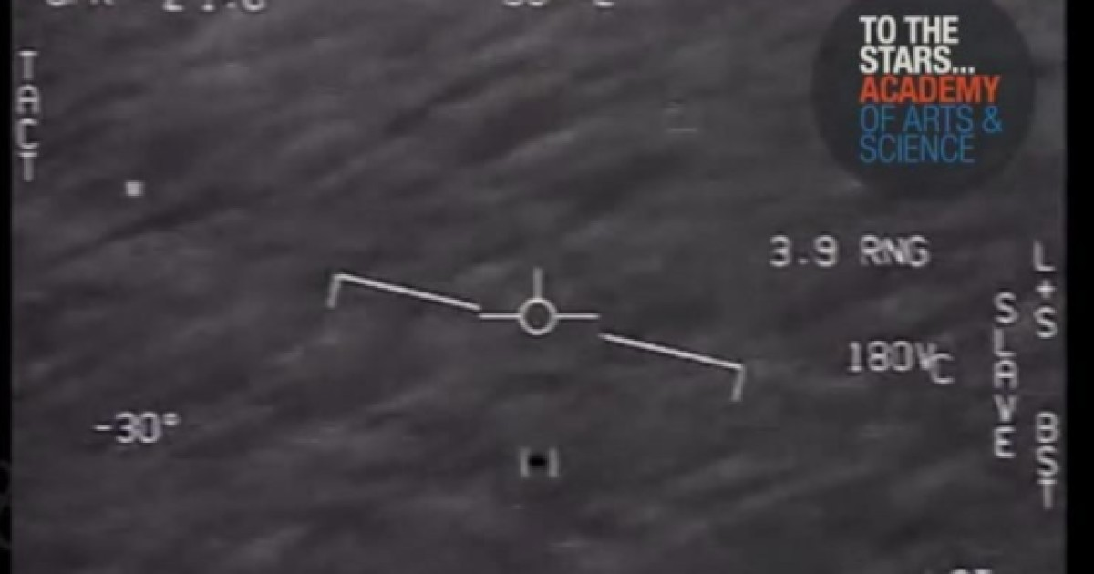 What is that thing?' Newly released footage shot by US Navy pilots