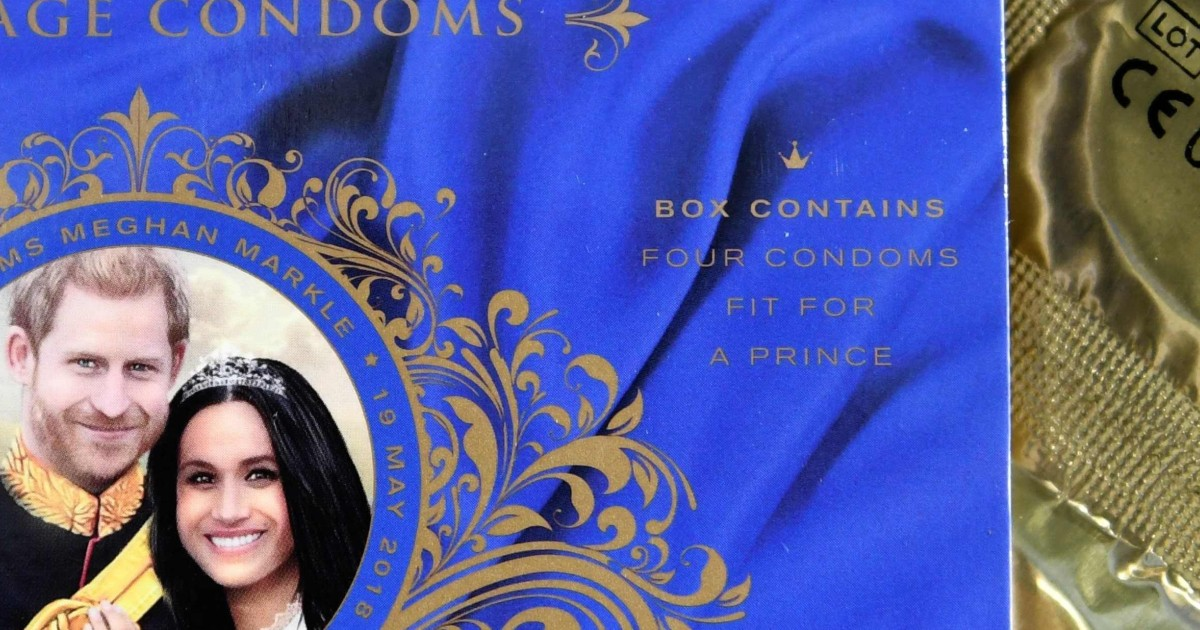 Stiff competition: Royal condoms lead the pack as souvenirs for
