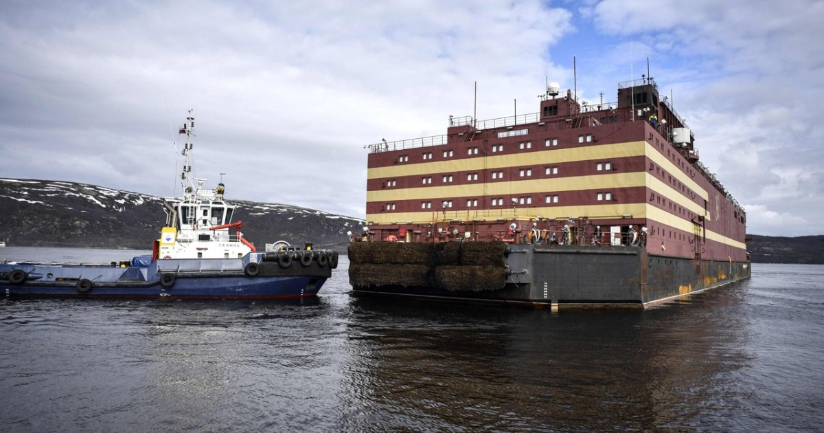 Russia launches world's first floating nuclear power station