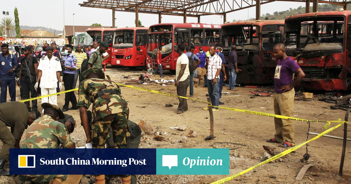 Rush-hour bomb blast at Nigeria bus station kills 71 near capital