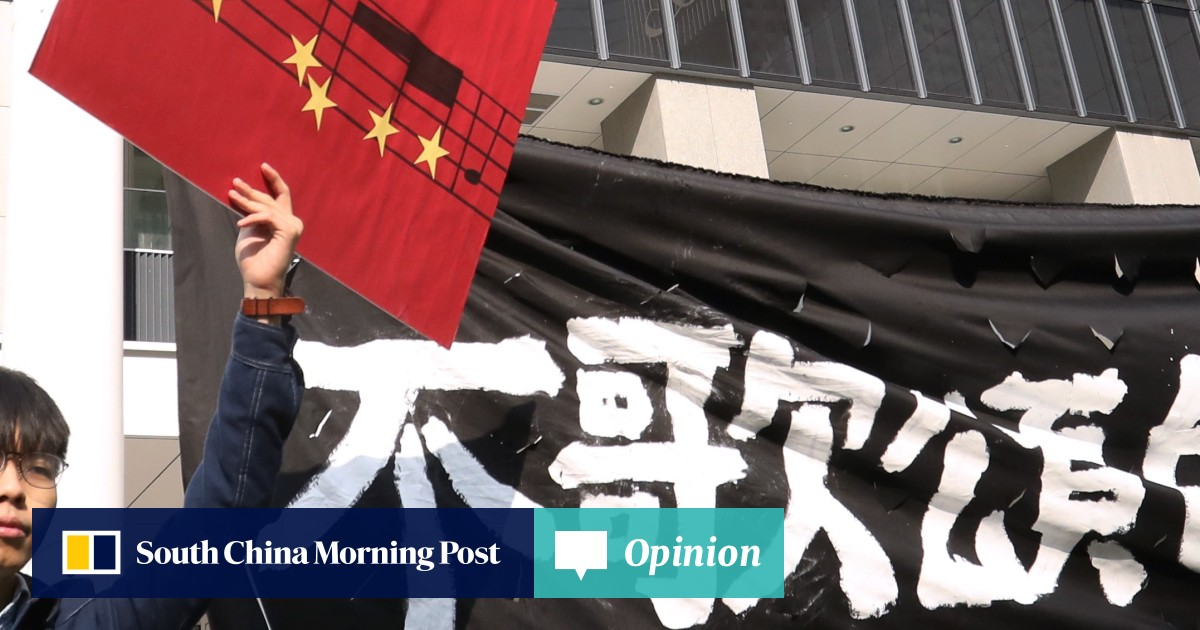 Pro-democracy activists stage flash mob protest outside Hong
