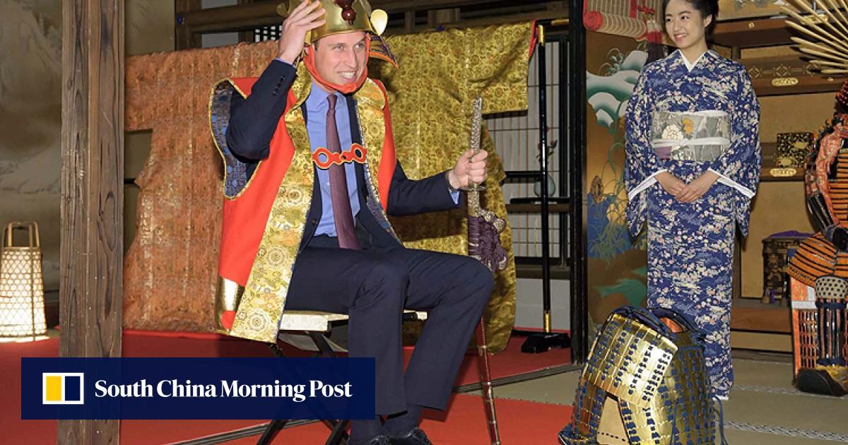 Britain S Prince William Dresses Up As A Samurai Warrior