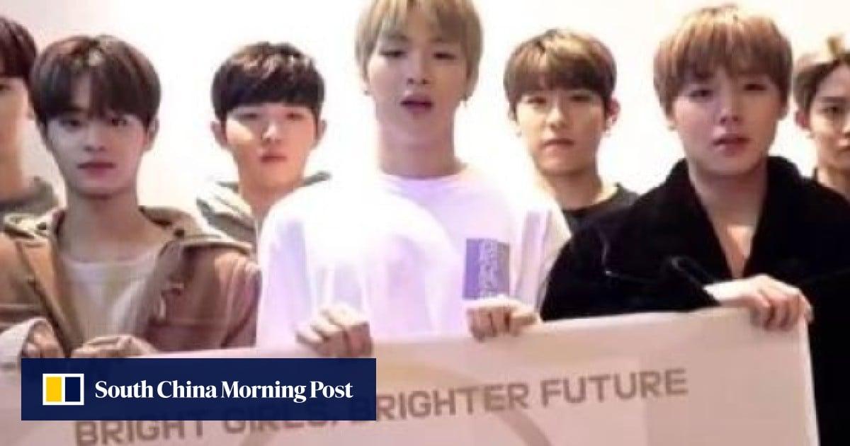 K-pop boy band Wanna One and Unesco help girls around globe get