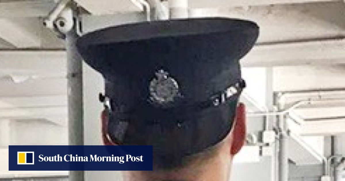 8dd09f2711f Hong Kong police hunt part-time officer over  extremely outrageous  and   insulting  back-to-front wearing of hat