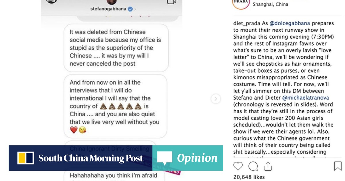 Dolce & Gabbana cancels show in China after celebrities and