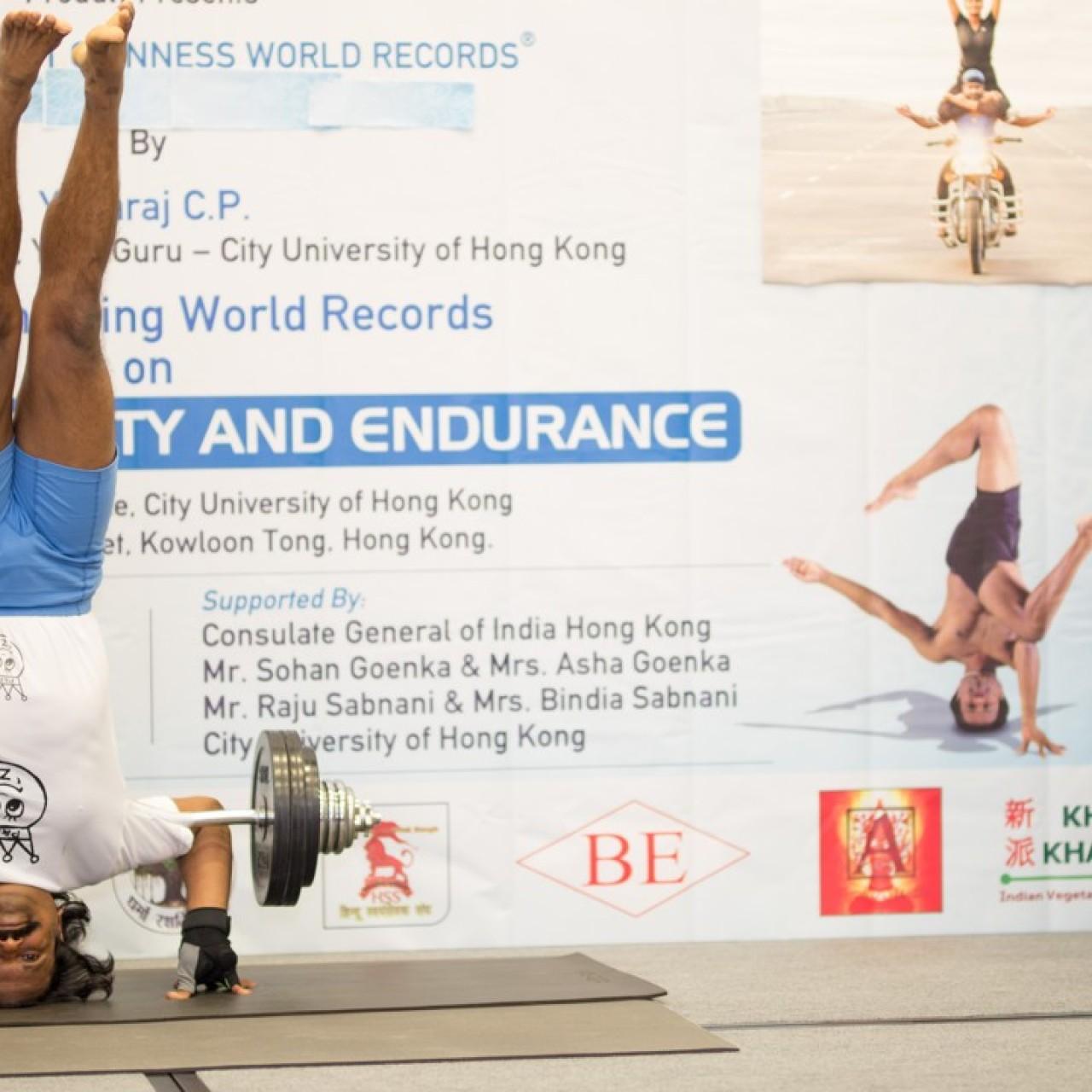 Hong Kong yogi breaks Guinness World Records for headstand